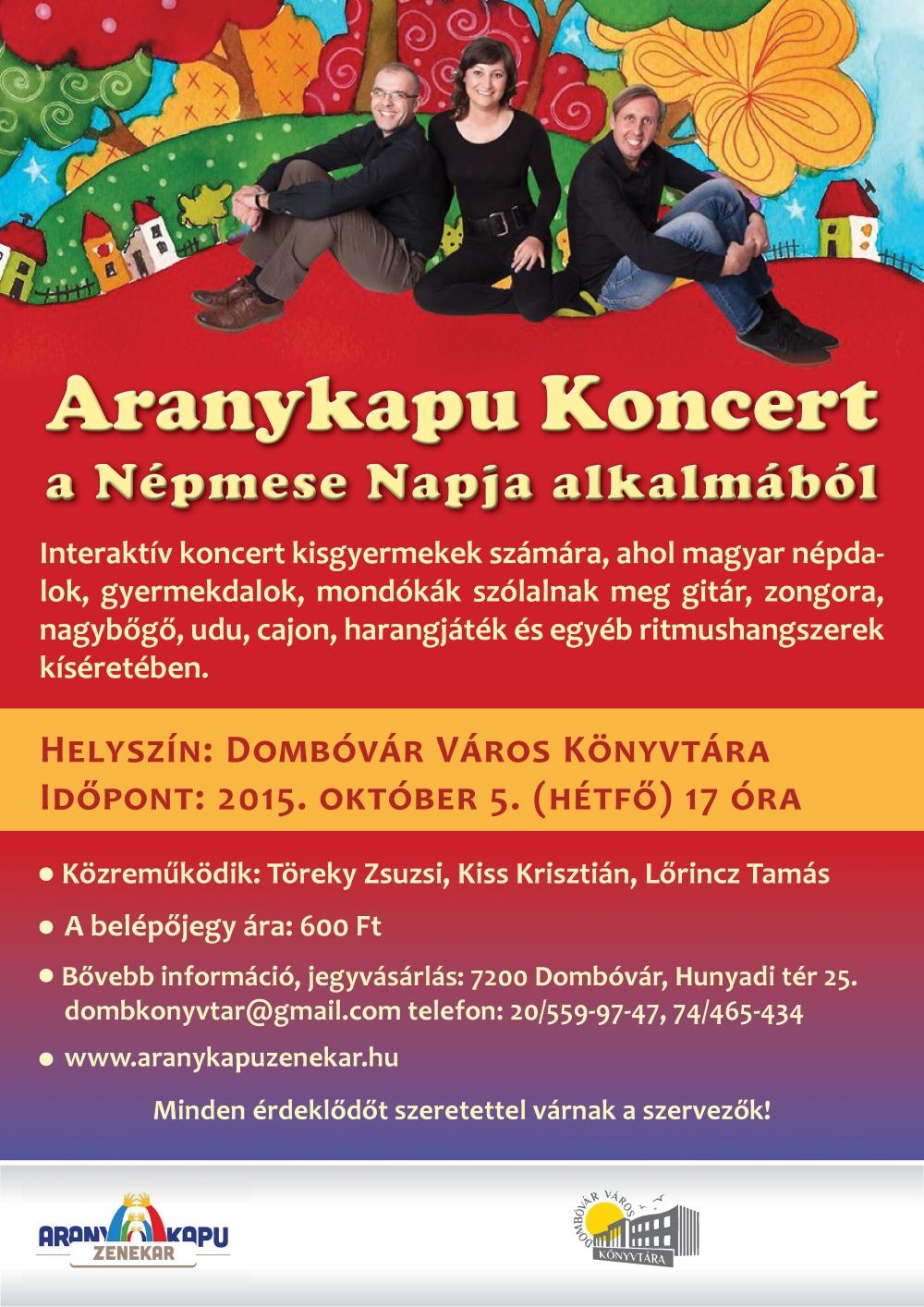 Aranykapu gyermekkoncert Dombóvár Város Könyvtárában