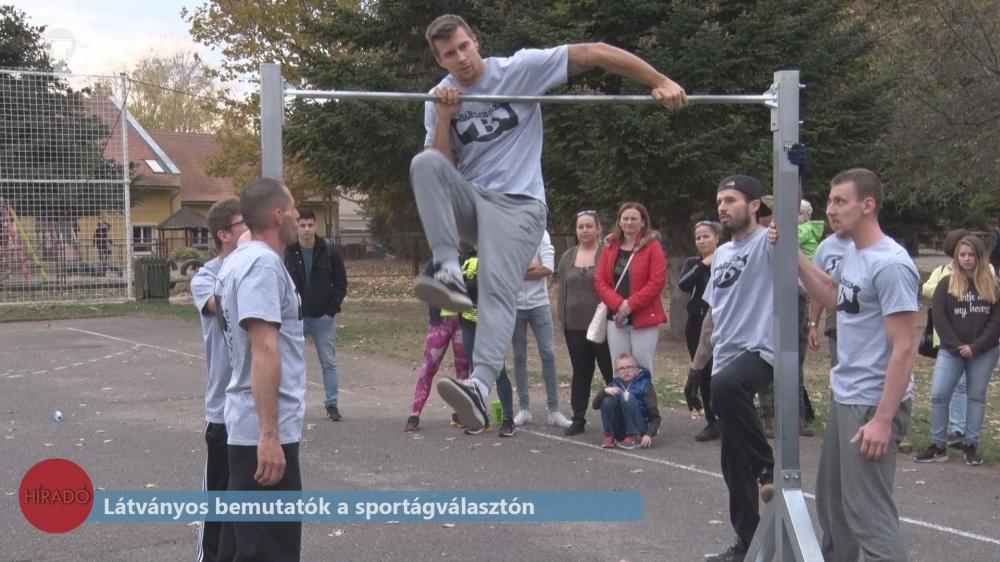 Látványos bemutatók a sportágválasztón